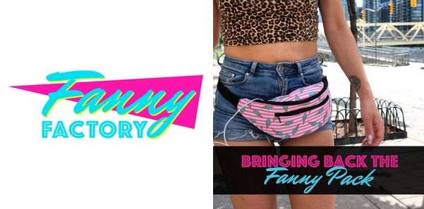 Fanny Factory Inc., Leominster, United States. Fanny Factory is a small online fanny pack retailer offering a variety of cute fanny packs of various styles, prints, and patterns. They have souped up the classic 90s-era packs with extra storage and water-resistant fabric. Fanny Factory offers one colour fanny packs such as the pink fanny pack as well as fanny packs with multi colours.