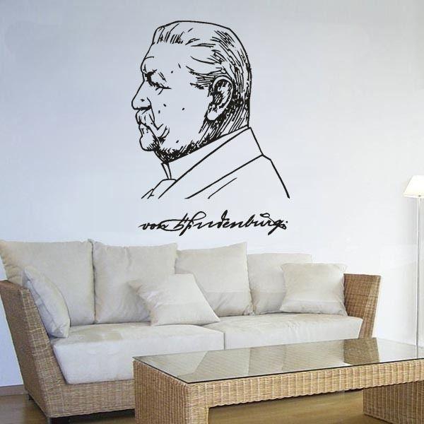 Cool Details zu Paul von Hindenburg Generalfeldmaschall Preu en cm x cm Wandtattoo