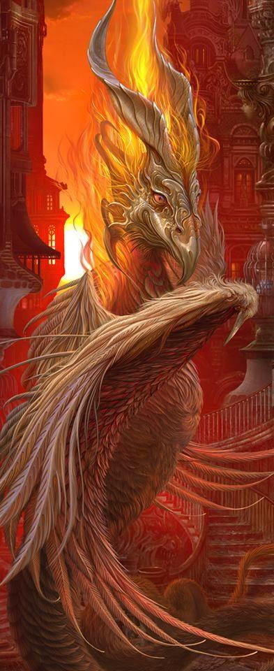 Kazumasa Uchio Dragon Fantasy Myth Mythical Mystical Legend Dragons Wings Sword Sorcery Art Magic