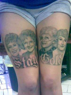 These 'Golden Girls' Tattoos are Like Seeing the Face of a God #tattoos