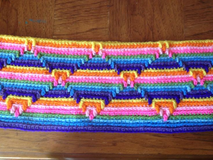 Crochet Navajo Stitch : ... Yarn on Pinterest Free pattern, Crochet flowers and Crocodile stitch