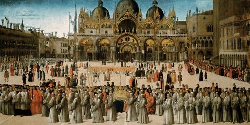 Procession in Piazza San Marco, Gentile Bellini, 1496