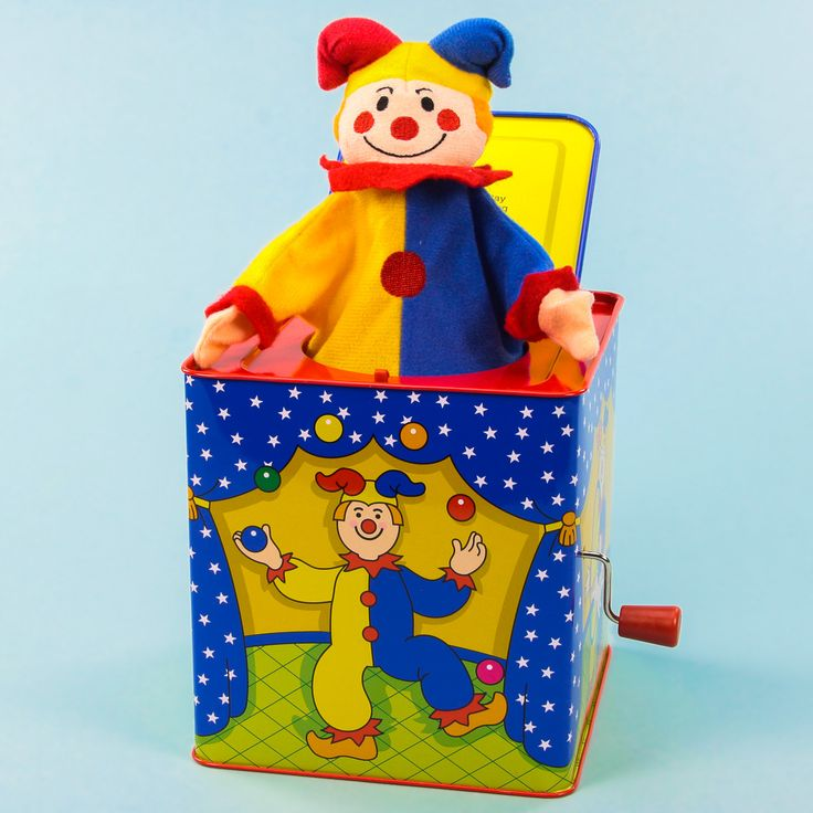 Jack in the Box Classic Clown Toy | Vintage Toys and Games ...