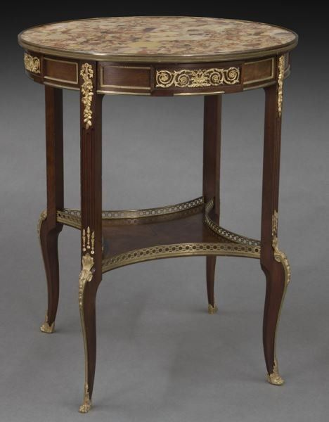 Louis XVI Linke style small side table, with a : Lot 318