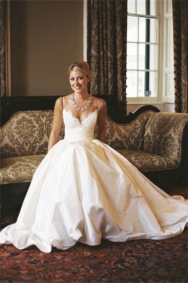 Lace Wedding Dresses #LaceWeddingDresses, A-Line Wedding Dresses #A-LineWeddingDresses, 2018 Wedding Dresses #2018WeddingDresses