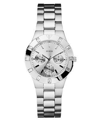 GUESS Watch, Women's Stainless Steel Bracelet 36mm U10075L1 - Women's Watches - Jewelry & Watches - Macy's