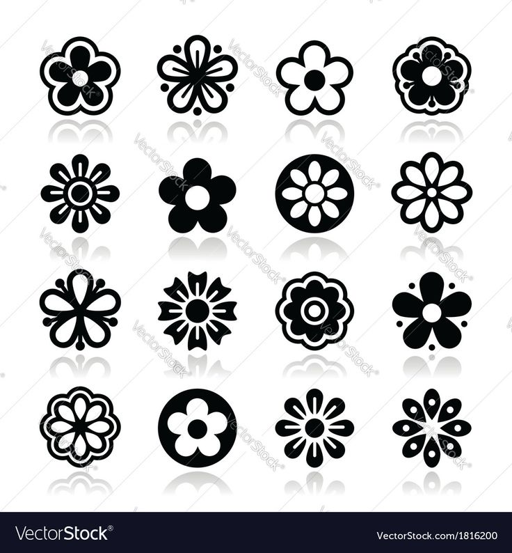 Nature icons - different flowers isolated on white. Download a Free Preview or High Quality Adobe Illustrator Ai, EPS, PDF and High Resolution JPEG versions.