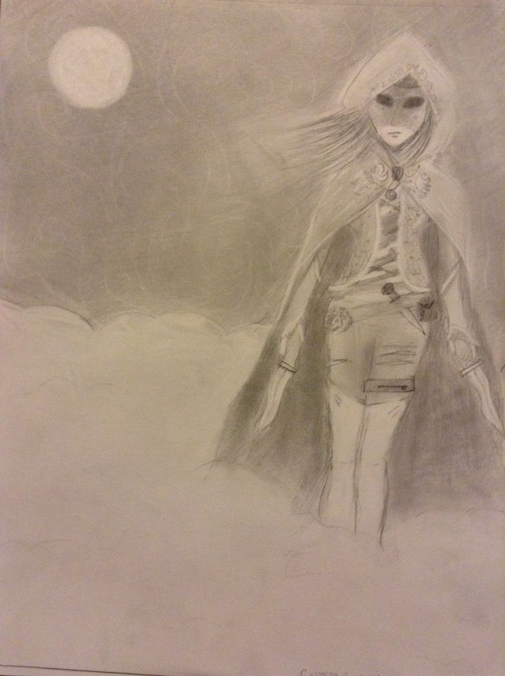 My drawing of Celina the assassin in The Assassin's blade.
