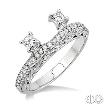 Diamond Wrap Wedding Ring in 14K White Gold - A great way to dress up a solitaire engagement ring.
