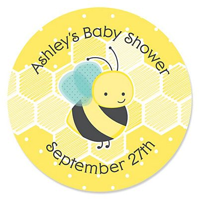 Our Original Honey Bee Personalized Baby Shower Sticker Labels Make Your Do It Yourself Projects Painless Are 1 In Diameter