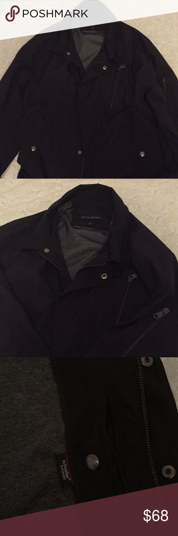 Luxe Weather proof Bomber Men's Large! A partnership between Banana Republic and Schoeller of Switzerland!  Very high quality and super sleek Tom Ford / James Bond style!  I really wish it still fit me or that it weren't so rare so I could buy another! Banana Republic Jackets & Coats Bomber & Varsity