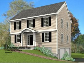 Portico on Garrison with simple columns. Also like walkway on slope.