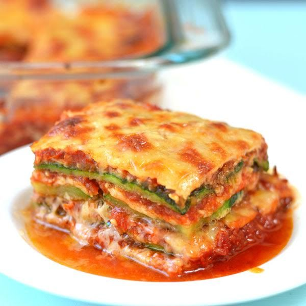 I LOVE lasagna, but we're eating low-carb so this grain free lasagna recipe is perfect! Zucchini lasagna with dairy-free & egg-free option.