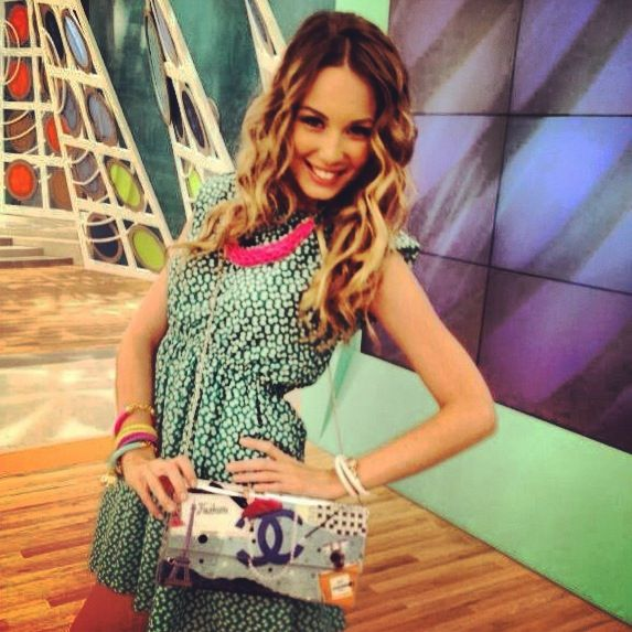 Antonia Kallimoukou with LovelyHandMade Clutch by Dristela...
