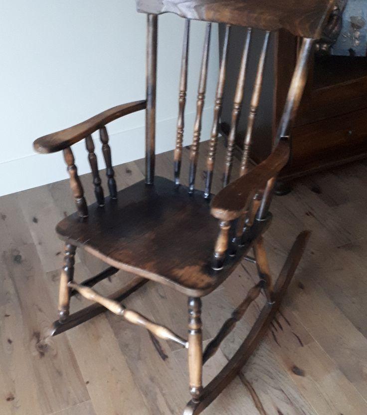 Chaise Rustique Décapé brûlée et vernie