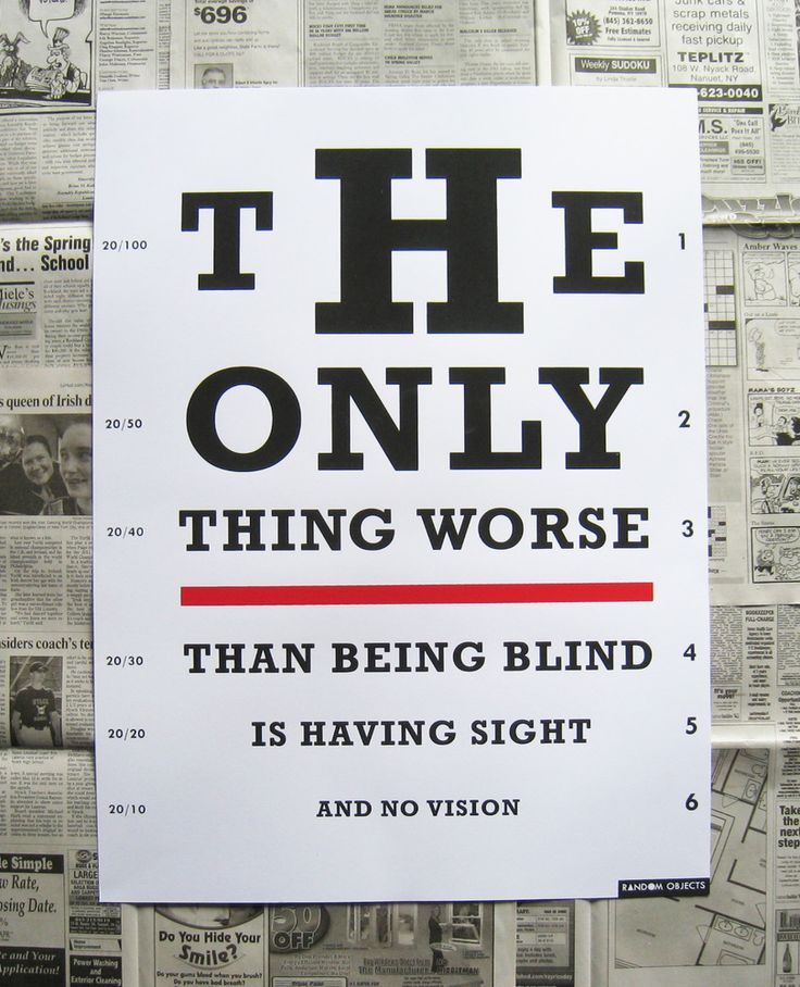 """""""Vision Test Poster"""" Random Objects http://www.randomobjects.net/product/vision-test-poster"""
