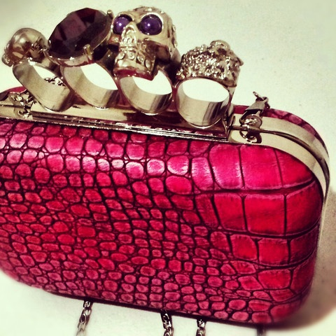 OUMIRA LOVES - Pink Skull Clutches by OUMIRA