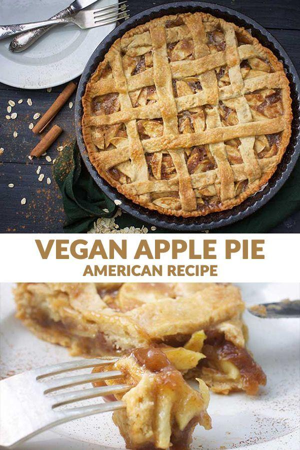 Vegan Apple Pie American Pie Gourmandelle Recipe Vegan Apple Pie Vegan Apple Pie Recipe Recipes