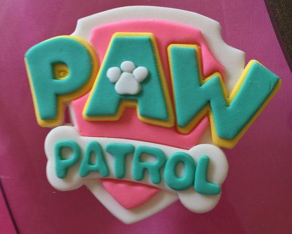 Pink Paw Patrol Inspired Fondant Cake Topper Paw Patrol
