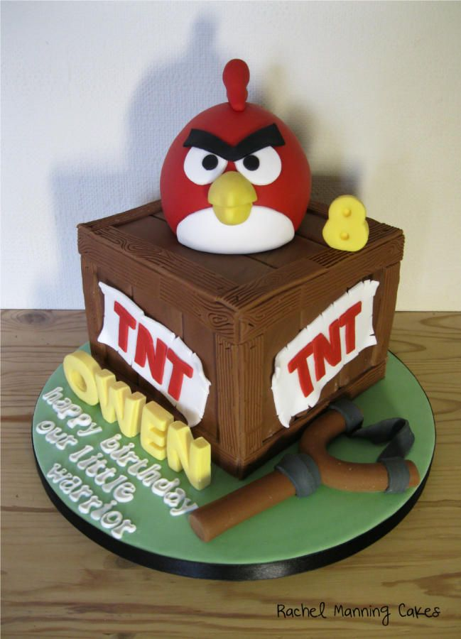 Angry Birds Cake - Cake by Rachel Manning Cakes
