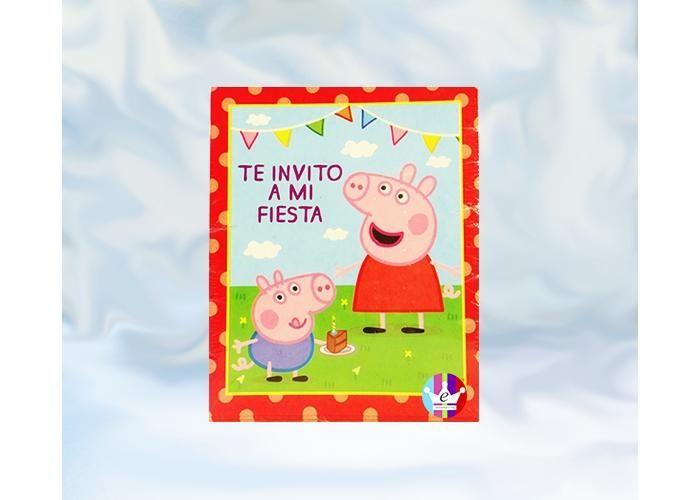 eFantasyMx: Peppa Pig, Invitaciones, 6 pzs - Kichink