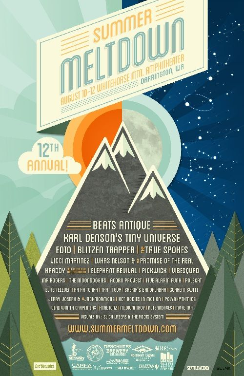 the summer meltdown an indie music fest in darrington wa just announced its lineup