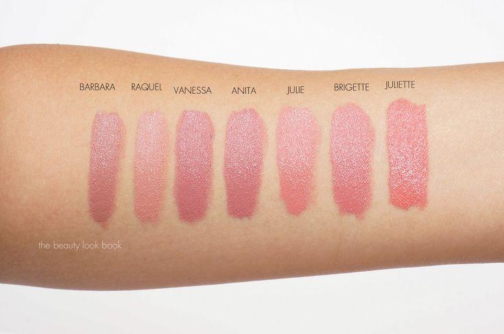 The Beauty Look Book: NARS Audacious Lipsticks   Lip Swatches for Barbara, Raquel, Vanessa, Anita, Julie, Brigette and Juliette