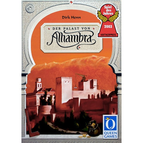 In Alhambra, players are acquiring buildings to be placed within their Alhambra complex. On a player's turn, a player may take money from the open money market, purchase a building from the building market, or engage in construction and re-construction projects with buildings that have been placed in the player's reserve. The game rewards ...