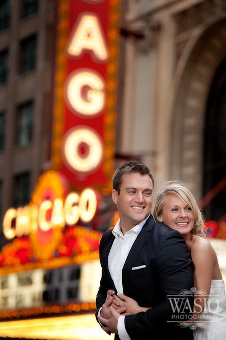 Great concept to shoot in front of the florida theater Chicago Engagement Photography – Julie   Caleb