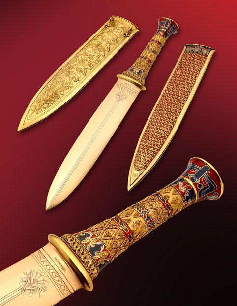 Here is Buster Warenski's rendition of King Tut's dagger.