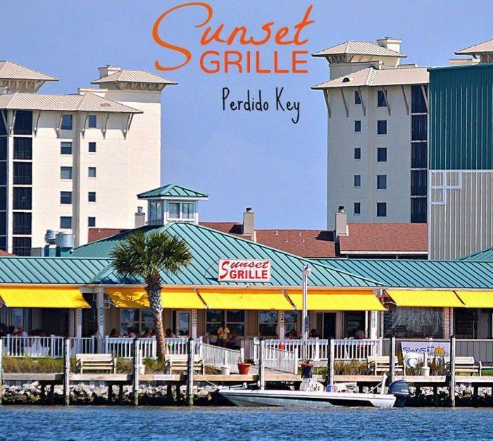 Perdido Key Alabama: Holiday Harbor Marina, Sunset Grille, Perdido, Florida