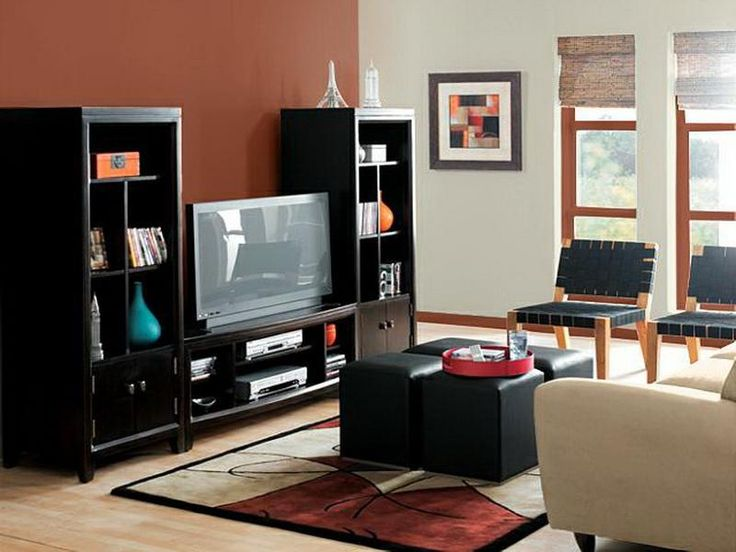 Living Room Paint Ideas Accent Wall living room wall colors with black furniture - creditrestore