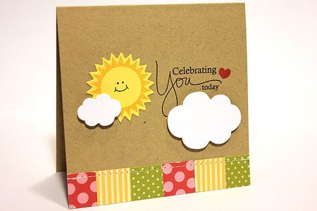 Celebrating You Today Card by Heather Nichols for Papertrey Ink (July 2012)