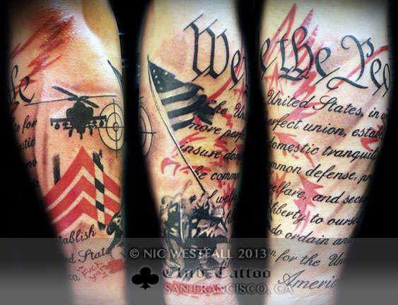 eagle american flag tattoos - Google Search