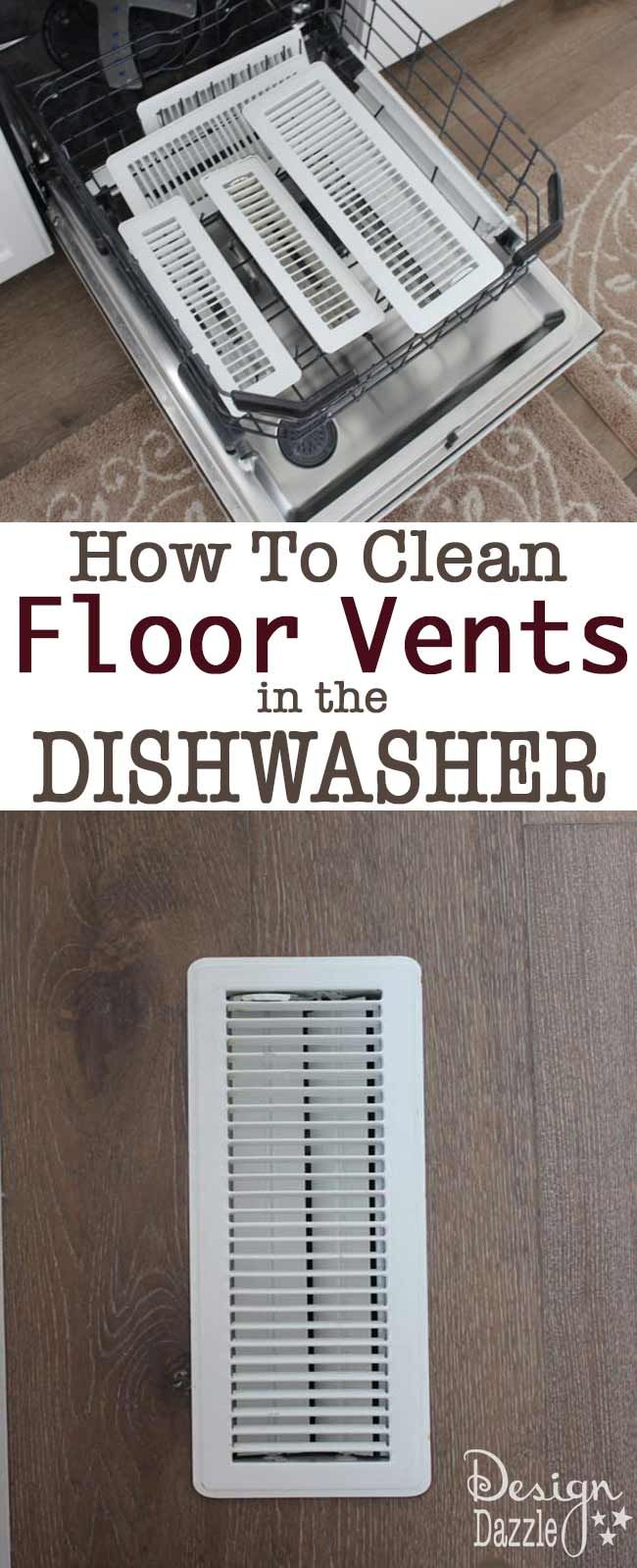 Yes, clean your floor and ceiling vents in the dishwasher. This idea is so QUICK and EASY!!! Check details in our post to see the do's and don'ts. Design Dazzle