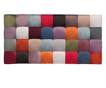 Testiera letto in velluto di poliestere Patchwork Quadrati - 160x80x10 cm