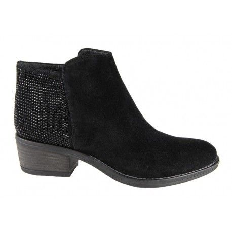 Stivaletto con borchie - Outlet Elena shop - Made in Italy - Black ankle boots with studs - Elena Shoes Shop Online
