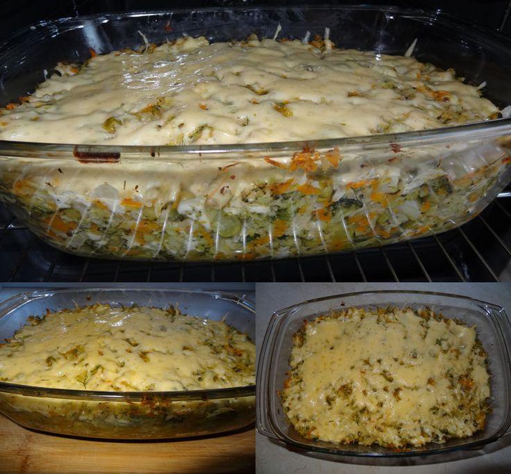 przepis na zapiekankę wegetariańską warzywną z serem i ryżem