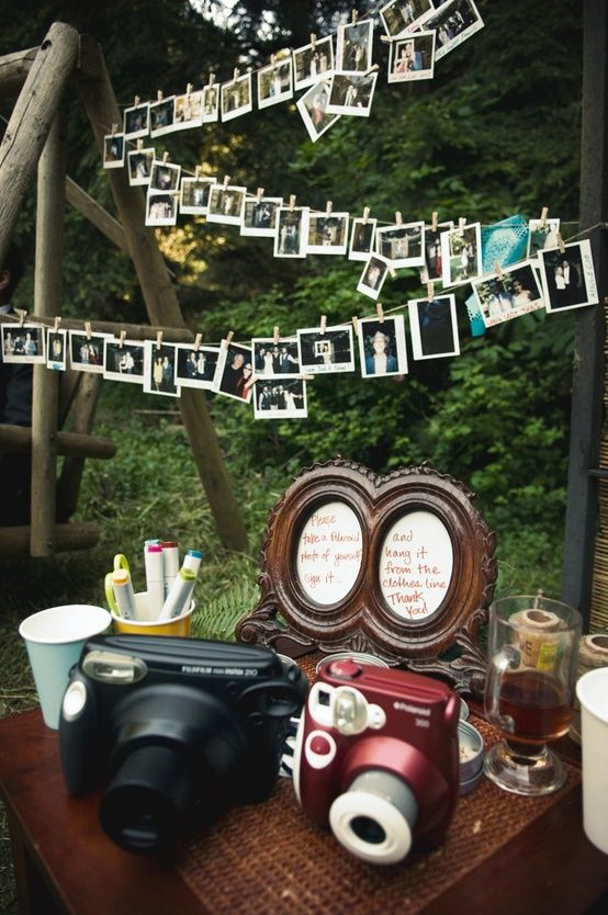 Polaroid Wedding Reception Guest Book!!!!!! And then have it on display in your house ♡ this is soo going to happen at my wedding!