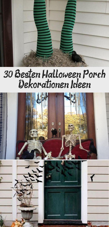 30 Best Halloween Porch Decorations Ideas   – Haus