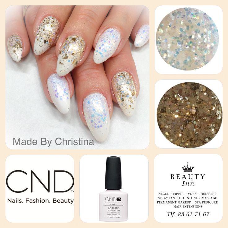 CND BRISA gele negle med CND Shellac og additivs