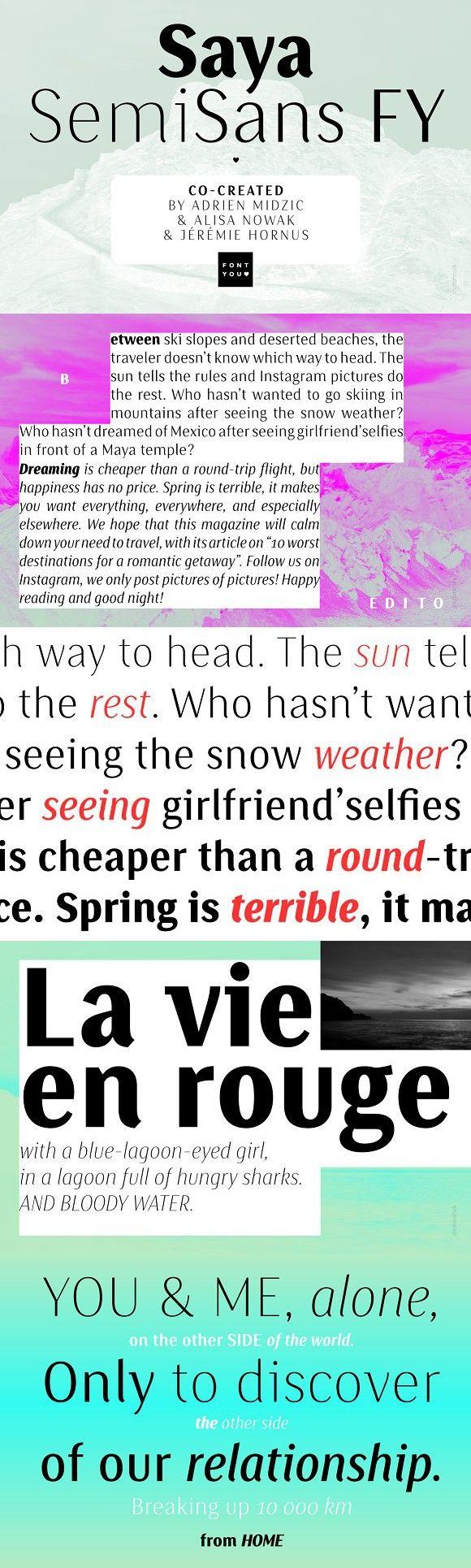 Saya SemiSans FY Thin Italic. Sans Serif Fonts. $50.00
