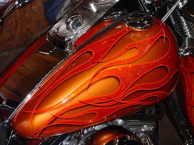 Jobs Flame Paint Motorcycle Custom