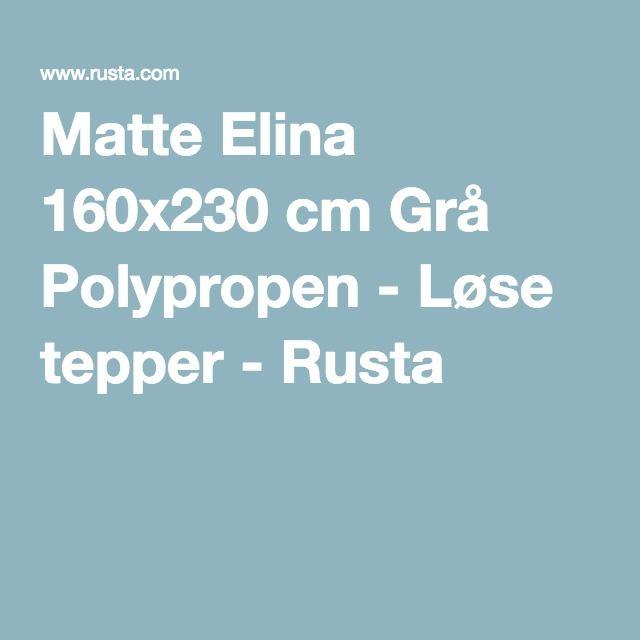 Matte Elina 160x230 cm Grå Polypropen - Løse tepper - Rusta