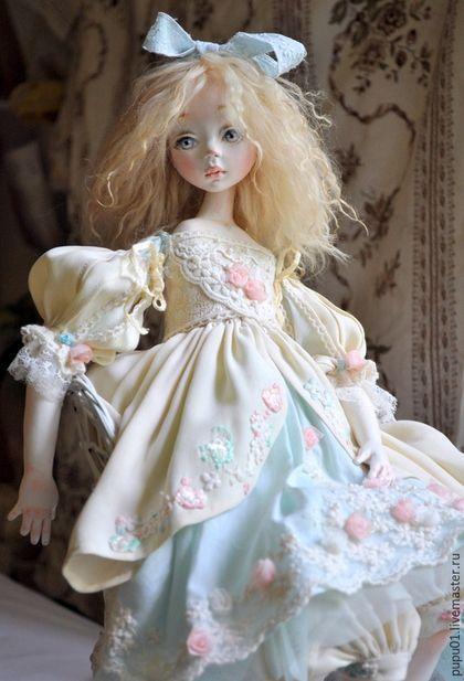 Коллекционные куклы ручной работы. Ярмарка Мастеров - ручная работа. Купить Авторская кукла Мятное утро. Handmade. Мятный