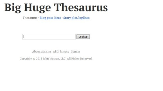 Big Huge Thesaurus  http://words.bighugelabs.com/