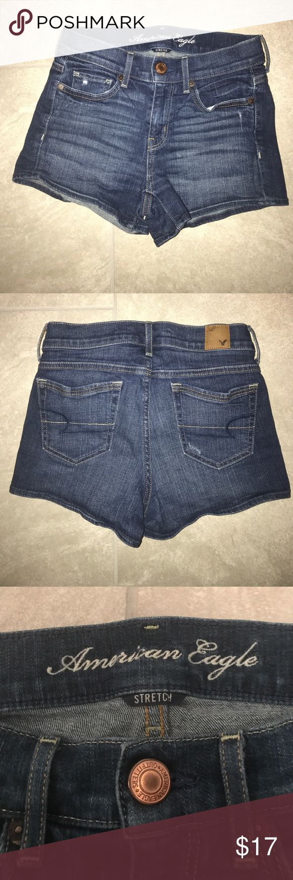 American Eagle Jeans Shorts Excellent condition! American Eagle Jean Shorts Stretch material ⚡️Add any item to a bundle to receive a private discount ⚡️ American Eagle Outfitters Shorts Jean Shorts