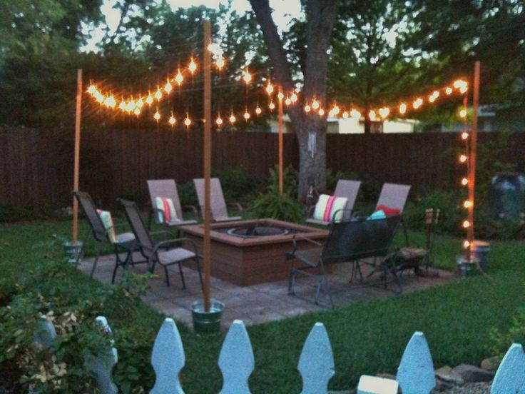 Party on the patio backyard lightingoutdoor