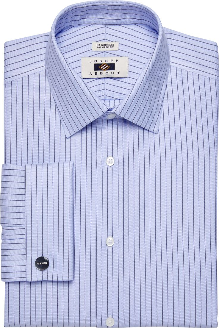 Check this out! Joseph Abboud Tailored Fit Spread Collar Pinstripe Dress Shirt CLEARANCE from JoS. A. Bank Clothiers. #JosABank