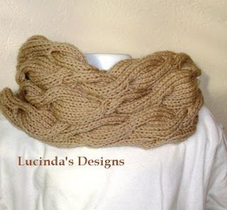 Louise Knits: Cabled cowl Free Knitting Pattern